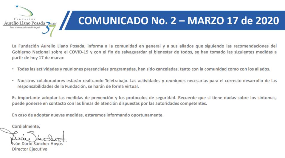 Comunicado -FALLP-COVID-19