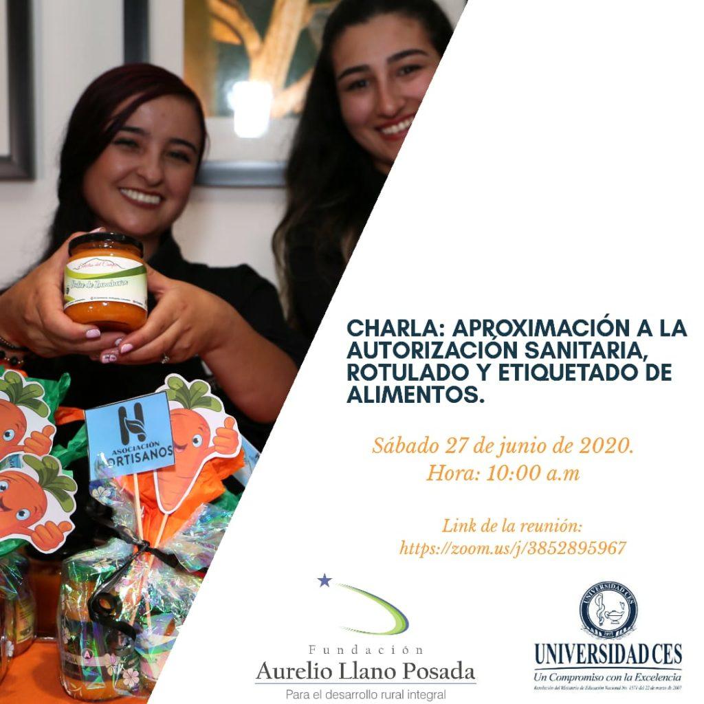 Charla en etiquetado y rotulado de alimentos-Fundación Aurelio Llano Posada